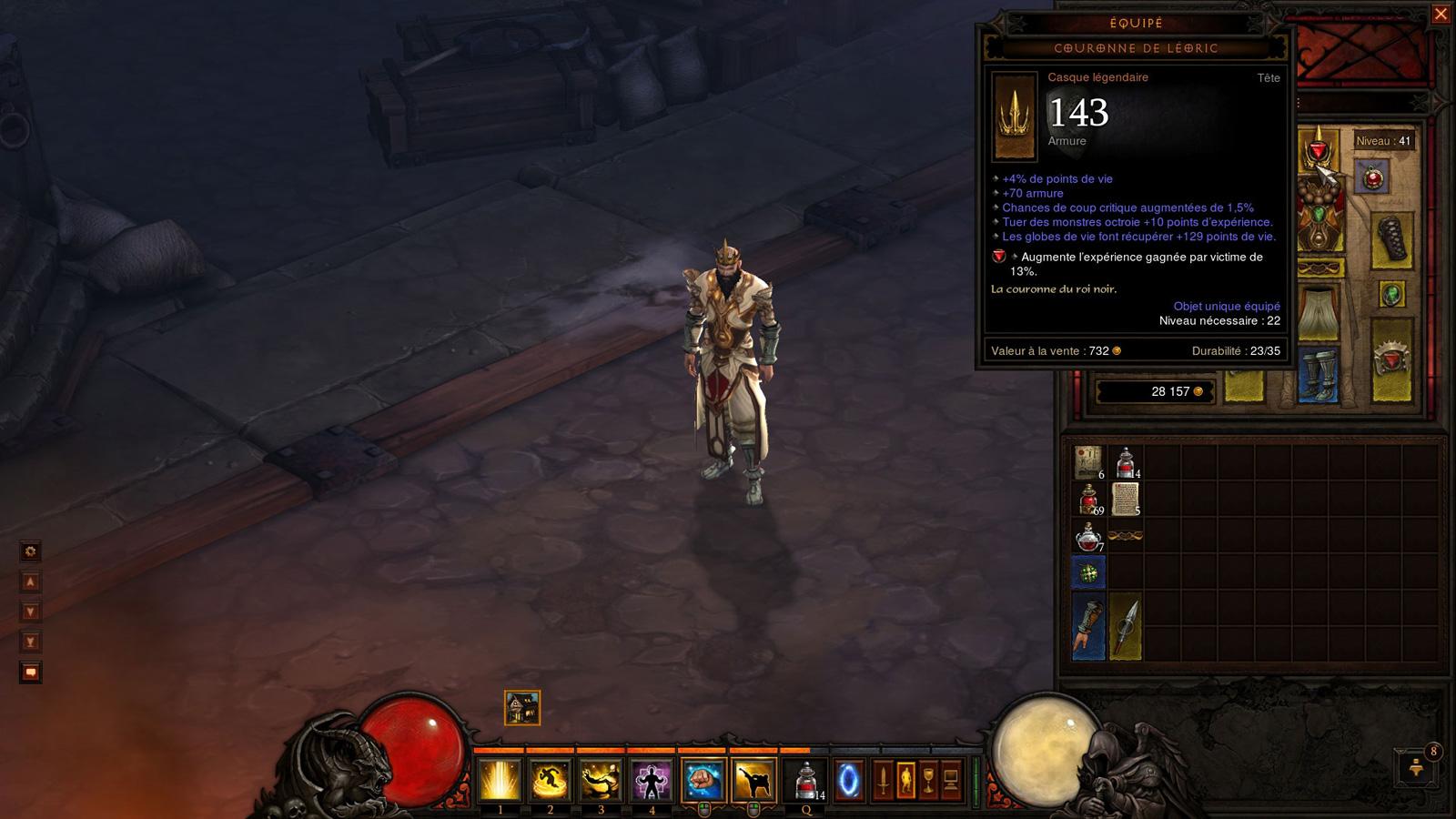 Un objet légendaire trouvé sur une souche.  Screenshot réalisé par Kaias.