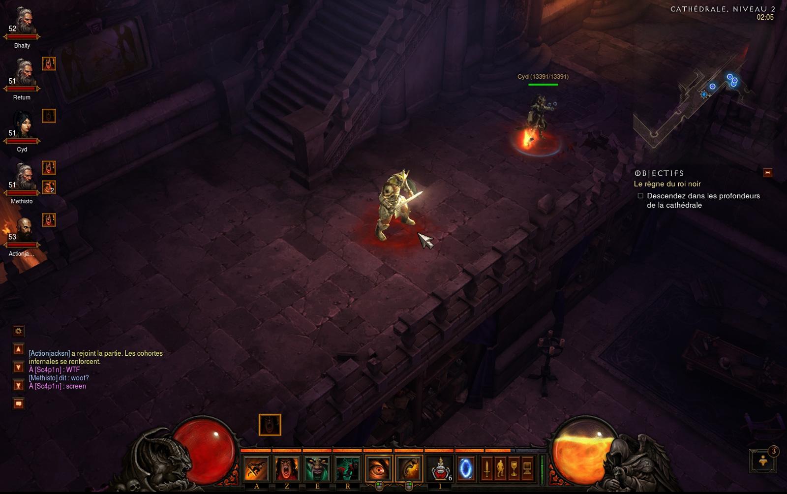 5 joueurs dans la même partie.  Screenshot réalisé par Jean-Philippe.