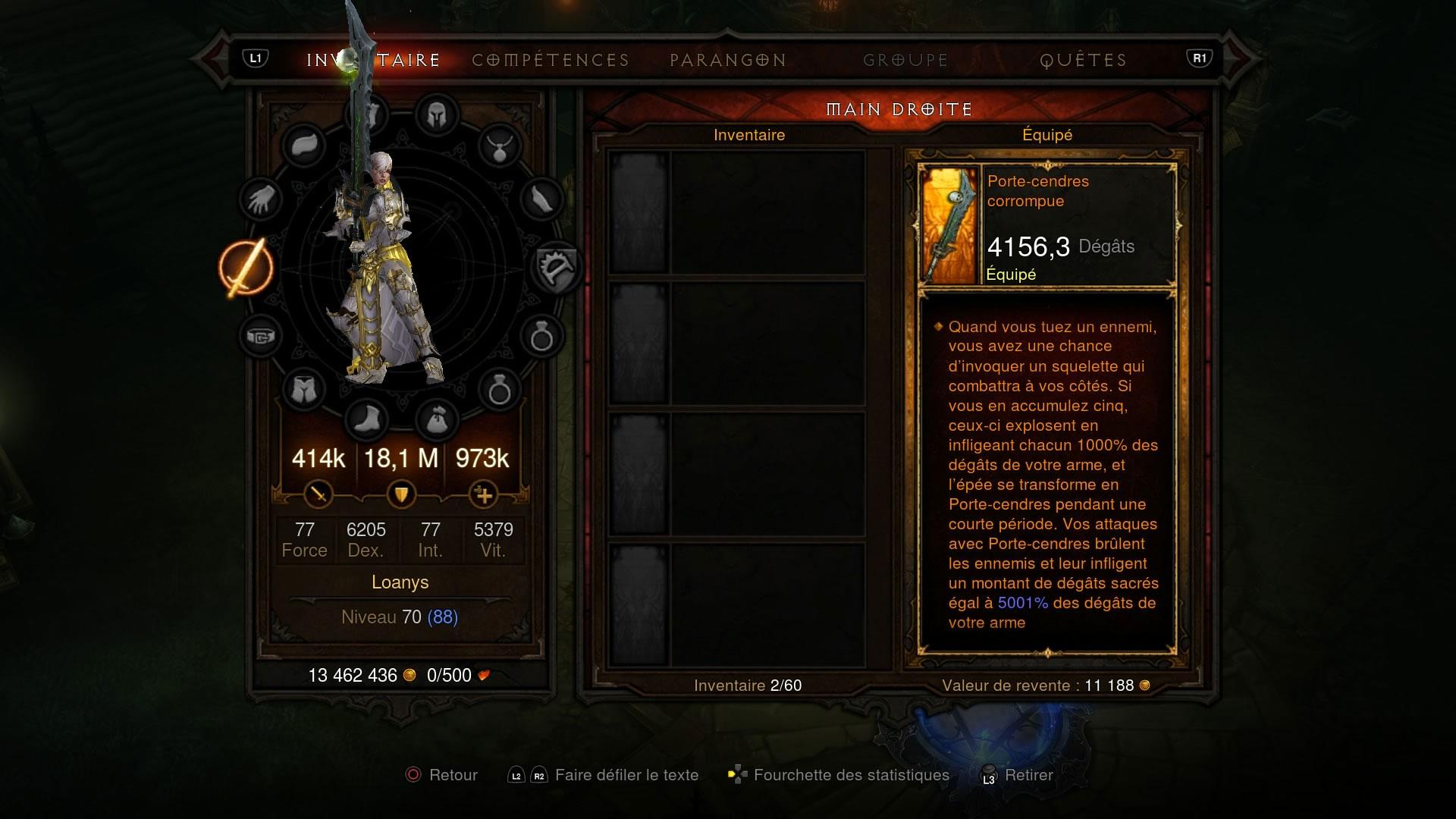 Screenshot de Porte-Cendres sur PS4 réalisé par Loanys.