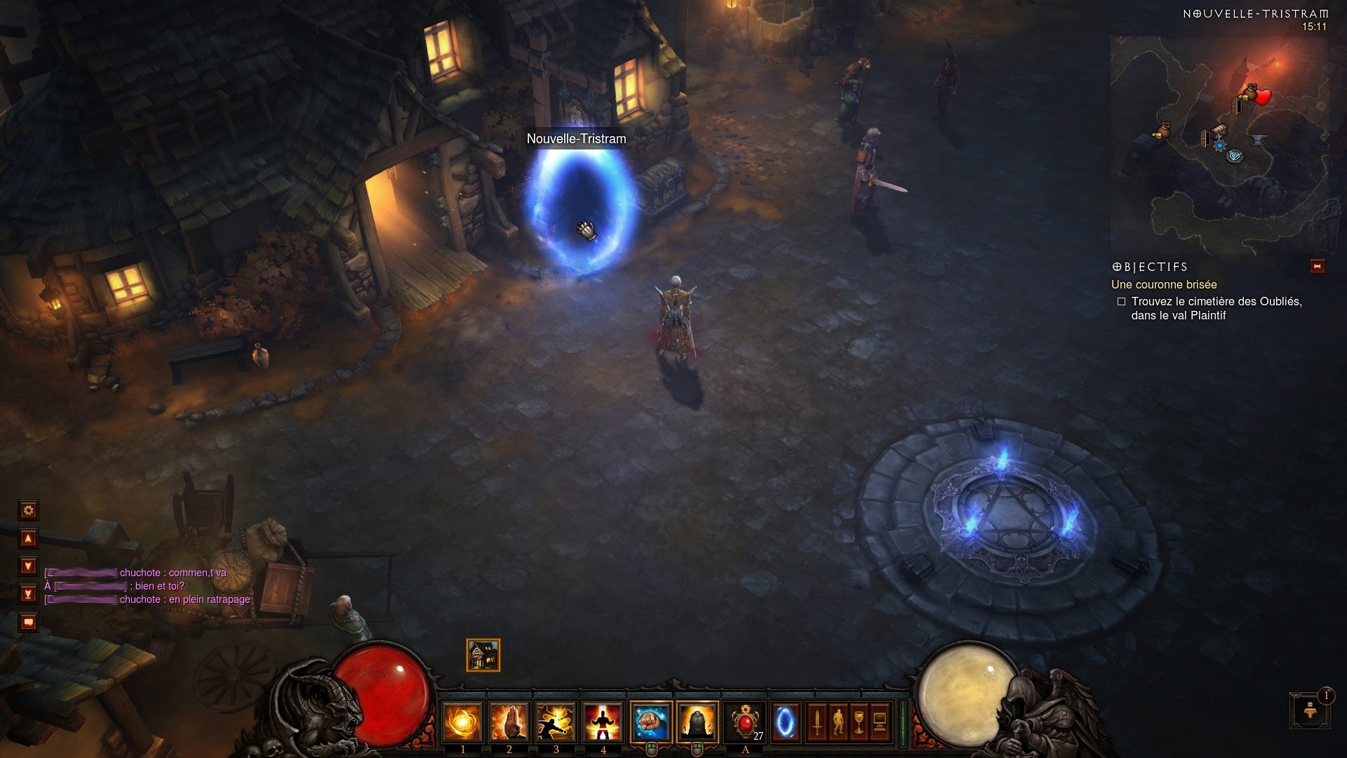 Un portail de Nouvelle-Tristram vers... Nouvelle-Tristram. Screenshot réalisé par LeCamembert.