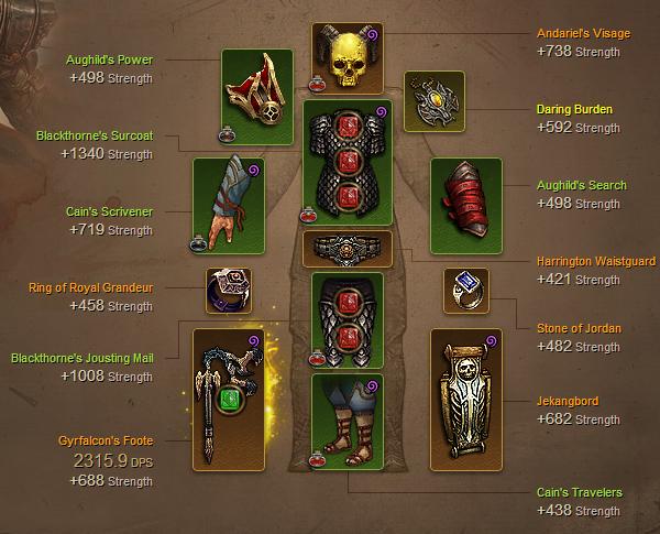Diablo  Build Oiseau De Feu