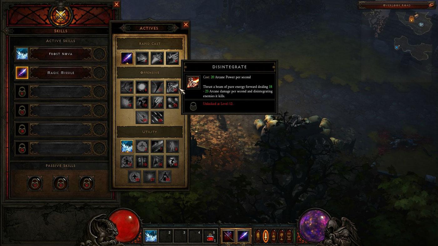 Screenshot de la beta de Diablo III.