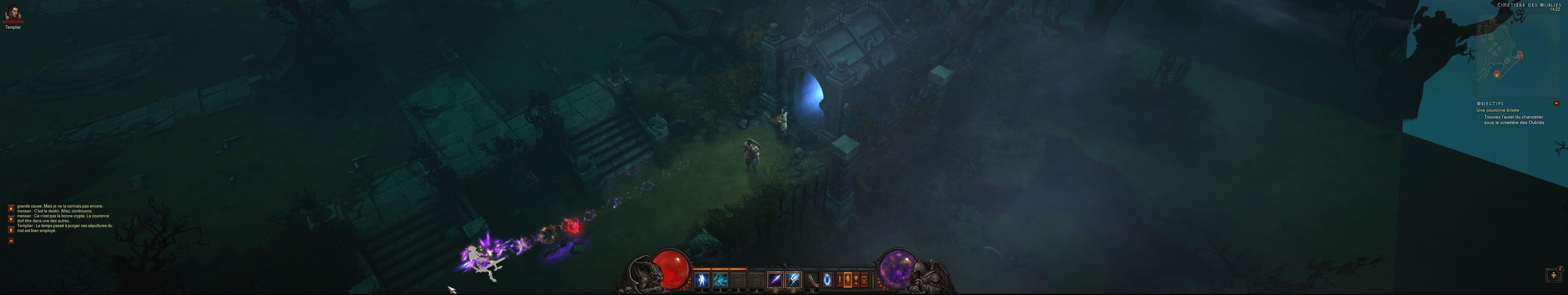 Diablo III sur 3 écrans (Eyefinity ATI). Image réalisée par Phangorn.