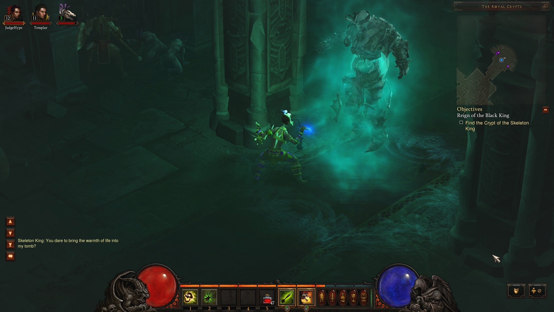 Screenshot de Diablo III (zoom).