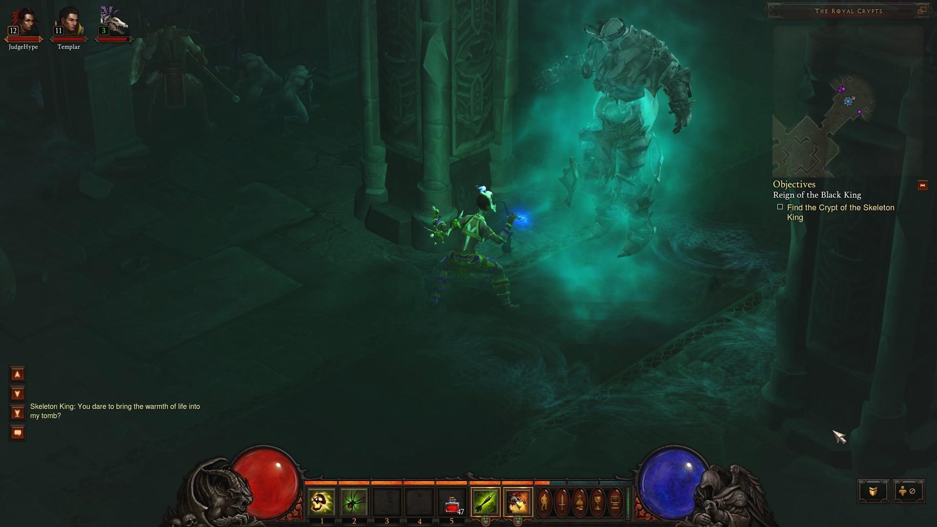 Screenshot de Diablo III (zoom).