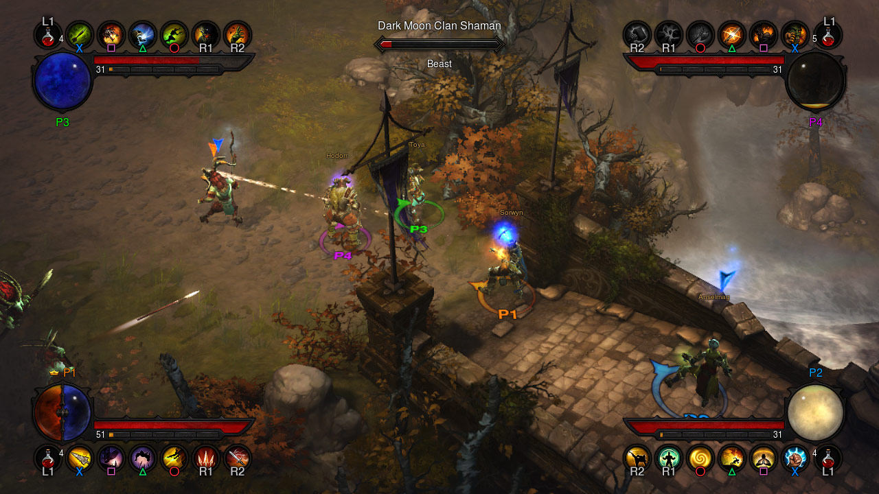 Screenshot du multijoueur de Diablo III sur Playstation 3.