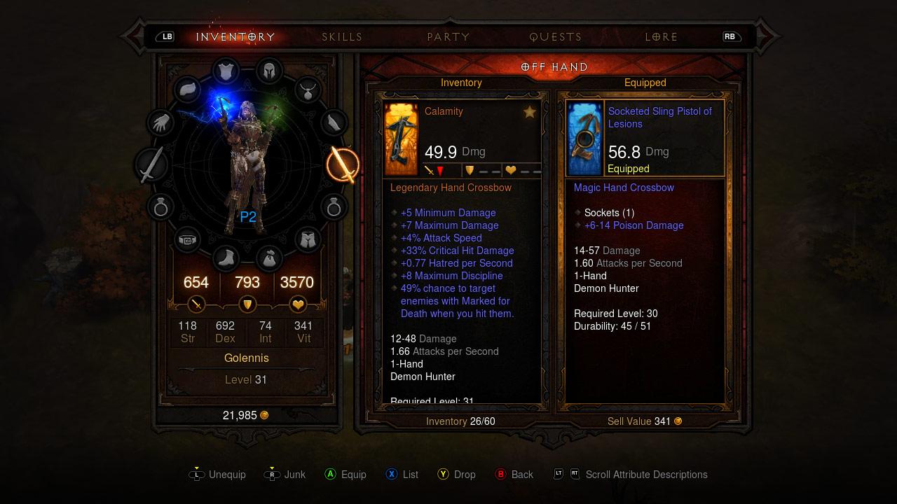 Screenshot du multijoueur de Diablo III sur Xbox 360.