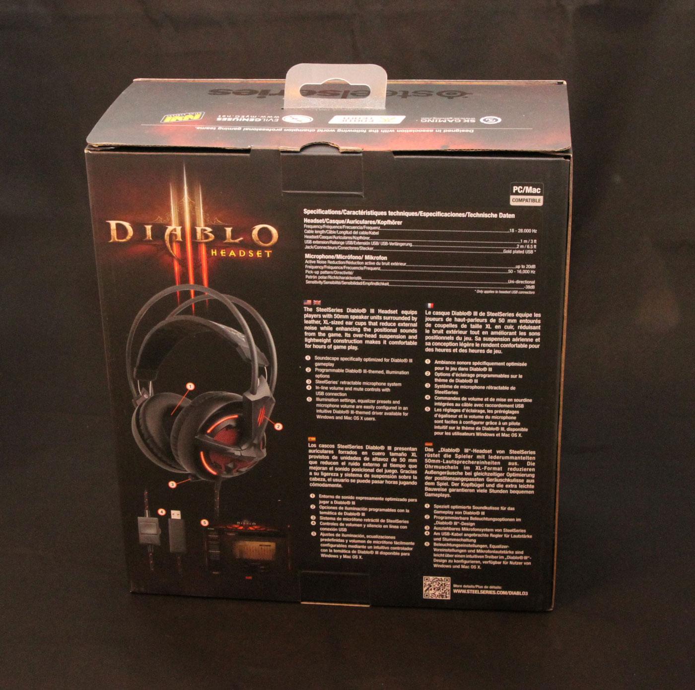 Casque micro Steelseries Diablo III.