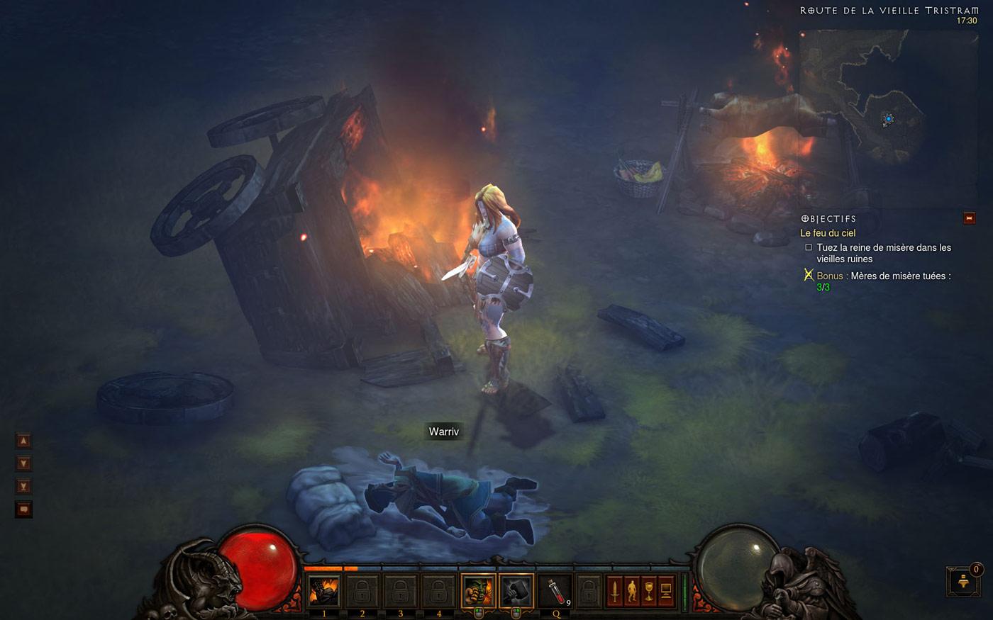 Clin d'oeil au personnage de Warriv, bien connu par les fans de Diablo. Image de Kanendar.
