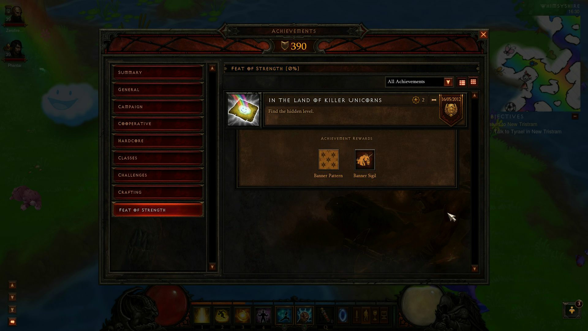 Le Tour de Force pour l'accès au niveau secret de Diablo III. Image de Zerofire.