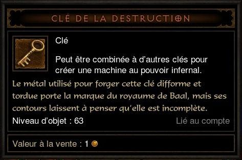 Machine Infernale: Clé de la destruction.