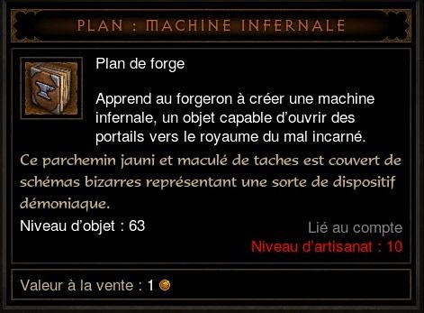 Machine Infernale: Les plans de forge de la Machine infernale.