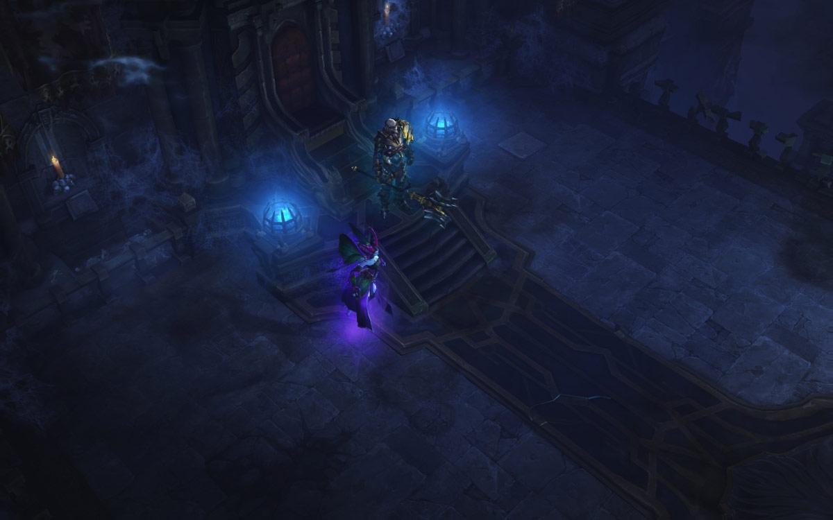 Machine Infernale: royaume de la Discorde, le roi Léoric et Maghda gardent les cryptes royales.