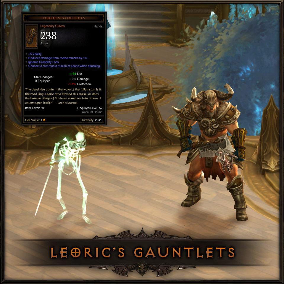Bonus exclusif PS3: Gantelets de Léoric.