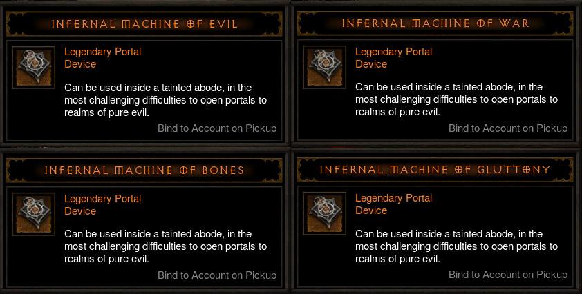 Diablo III: Reaper of Souls. Les 4 machines infernales de niveau 70.
