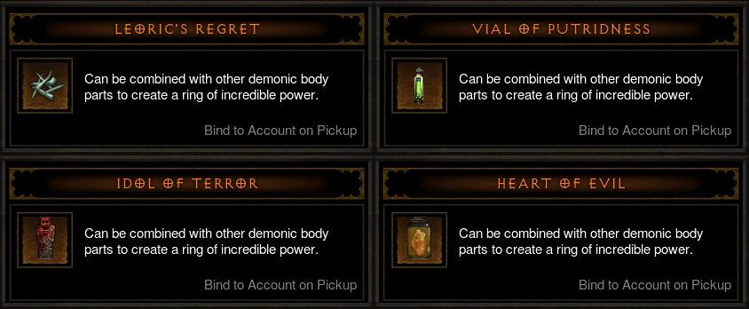 Diablo III: Reaper of Souls. Les organes de l'anneau des flammes infernales L70.