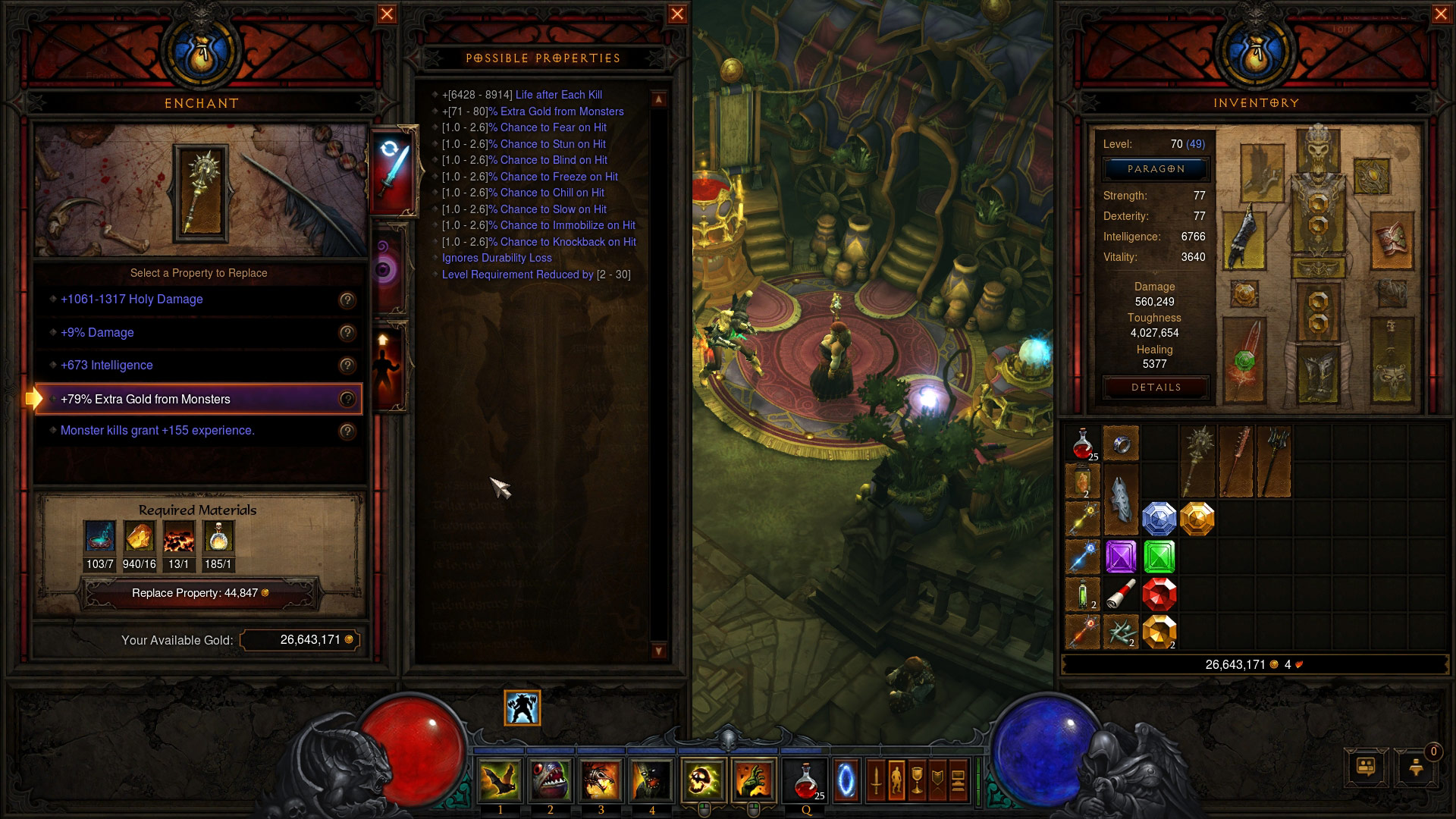 Screenshot de Diablo III: Reaper of Souls.
