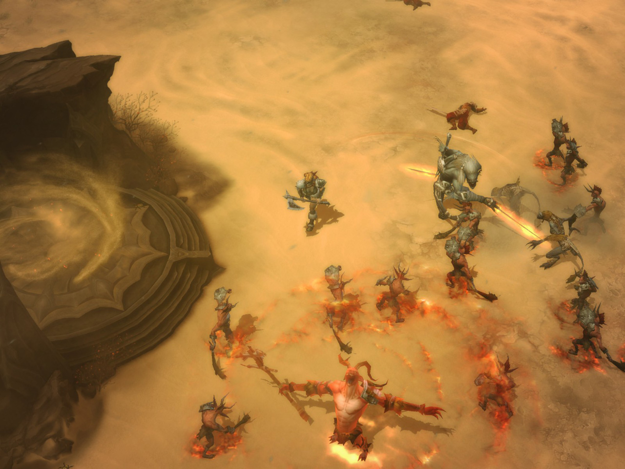 Screenshot de Diablo III (août 2009).