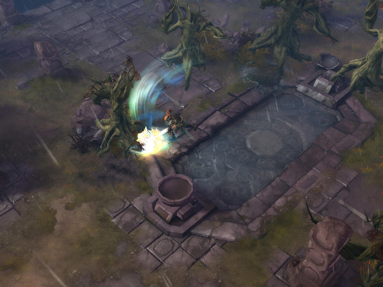 Screenshot de Diablo III (février 2009).