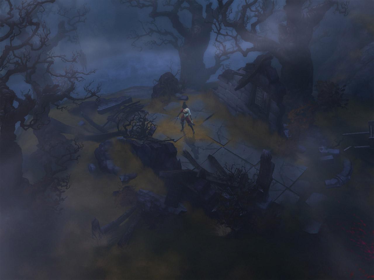 Screenshot de Diablo III (octobre 2008).